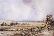 View on the Lowther,with Cattle in the Water Peter Dewint